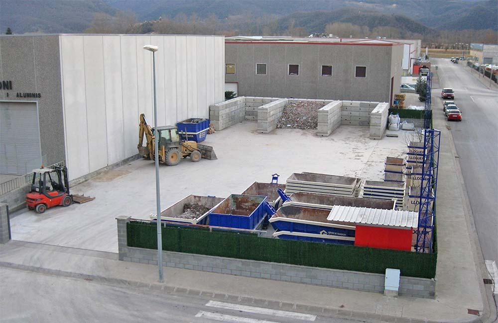 Planta de gestió de residus de construcció