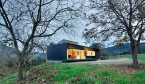 Rehabilitació de masia, façana de ferro